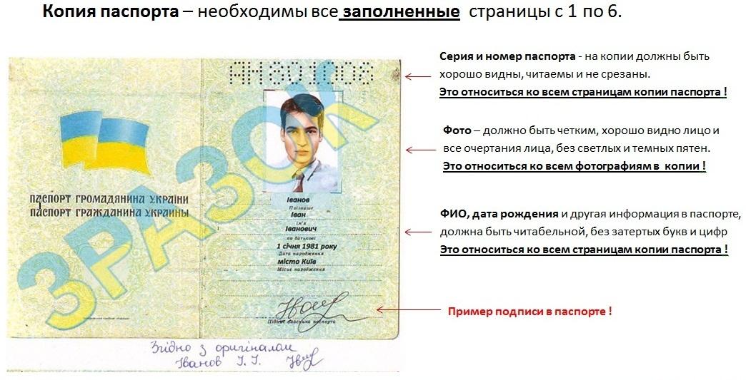Серия номера паспорта в украине картинки